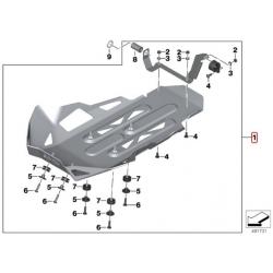 Hliníkový kryt motoru BMW pro R1250GS/A 2018+, stříbrný