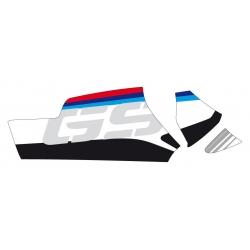"""Samolepka """"GS"""" na kardan pro R1250GS/A, R1200GS/A LC 2013-2018, bílá"""