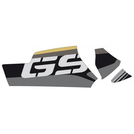 """Samolepka """"GS"""" na kardan pro R1250GS/A, R1200GS/A LC 2013-2018, žluto-černá"""