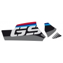 """Samolepka """"GS"""" na kardan pro R1250GS/A, R1200GS/A LC 2013-2018, R1200GS/A 2004-2013, červeno-modrá"""