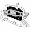 Držák toolboxu Givi/Kappa KS250 pro originální nosiče R1200GS Adventure 2006-2013