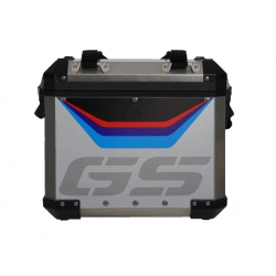 "Samolepka ""GS"" na originální ALU boční kufr pro R1250GS ADV 2018+, R1200GS ADV LC 2014-2018, R1200GS ADV 2006-2013"