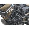 Velkýpadací rám značky Heed pro BMW F800GS 2013-2018 Komplexní ochrana motoru i horních plastových částí. Velmi pevná konstrukce. Barva: černá