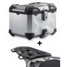 ALU topcase SW-Motech Trax Adventure 38l + plotna pro R1250GS Adventure, R1200GS Adventure LC 2014-2018, stříbrný