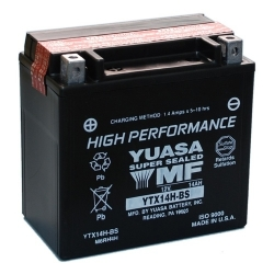 Baterie YUASA YTX14H-BS 12V 12Ah pro BMW R1250GS/A, R1200GS/A LC 2013-2018, R1200GS/A 2004-2012, F800GS/A, F700GS, F650GS 08-12