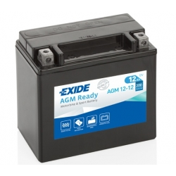 Baterie Exide AGM 12V 12Ah pro BMW R1250GS/A, R1200GS/A LC 2013-2018, R1200GS/A 2004-2012, F800GS/A, F700GS, F650GS 08-12