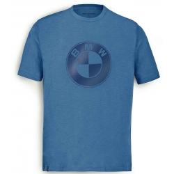 Pánské tričko s potiskem logo BMW, modré
