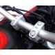 Zvýšení řidítek 25mm nahoru pro 22mm řidítka, stříbrné