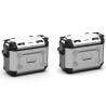 Sada bočních hliníkových kufrů Kappa 2x 37L, stříbrné