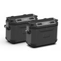 Sada bočních hliníkových kufrů Kappa 2x 37L, černé