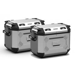 Sada bočních hliníkových kufrů Kappa 2x 48L, stříbrné