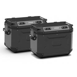 Sada bočních hliníkových kufrů Kappa 2x 48L, černé