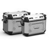 Sada bočních hliníkových kufrů Kappa 48L+37L, stříbrné