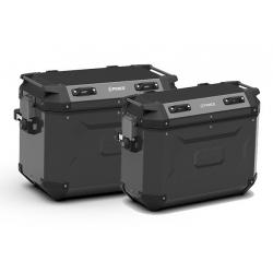 Sada bočních hliníkových kufrů Kappa 48L+37L, černé