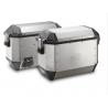 Sada bočních hliníkových kufrů Kappa 2x 35L, stříbrné