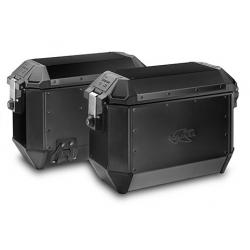 Sada bočních hliníkových kufrů Kappa 2x 35L, černé