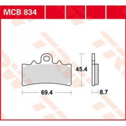 Přední brzdové destičky TRW Lucas MCB834SV pro G310GS