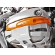 Ochranné kryty víka ventilů Wunderlich pro R1150GS/A, R1100GS, stříbrné