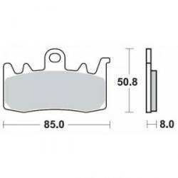 Sada brzdových destiček SBS pro R1200GS/A LC 2013+