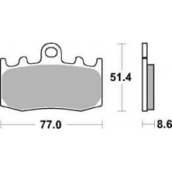Sada brzdových destiček SBS na přední kotouč pro R1200GS/A 2004-2012, R1150GS/A 2001-2004