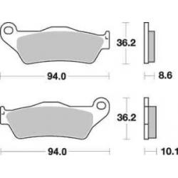 Sada brzdových destiček SBS na zadní kotouč pro BMW R1200GS/A 2004-2012, R1150GS/A, R1100GS, R850GS