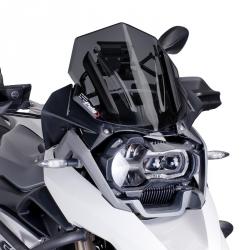 Plexi sportovní nízké 33cm Puig pro BMW R1250GS/A, R1200GS/A LC 2013-2018, tmavě kouřové