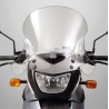 Vysoké cestovní plexi Ztechnikpro BMW F650GS/Dakar 2004-2007 je tvarované pro lepší proudění vzduchu. Extrémně odolné proti poškrábání. Vyrobeno z 4,5mm tvrzeného polykarbonátu, který minimálně zkresluje při pohledu skrz. Homologováno. Zrcátka se v krajní poloze řidítek mohou dotýkat plexi, proto je doporučována montáž rozšíření řidítek. Výška: 49cm Šířka: 42cm Barva:čirá