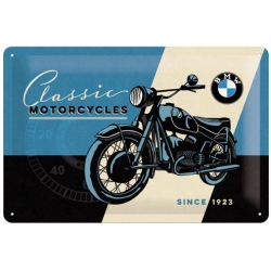 Plechová cedule BMW Classic motorcycles 30x20cm