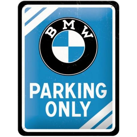 Plechová cedule BMW Parking only 15x20cm