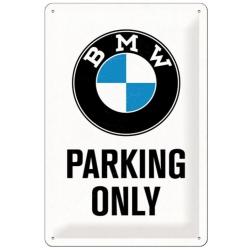 Plechová cedule BMW Parking only 20x30cm