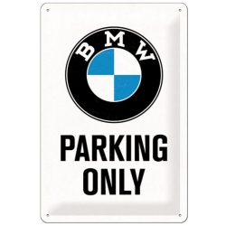 Plechová cedule BMW Parking only 40x30cm