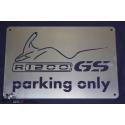 Nerezová tabulka R1200GS Parking Only