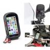 Voděodolný obal se stínítkem od Givi/Kappa pro telefony do rozměru 161x83 mm. Montáž je možná na řidítka/hrazdu/zrcátko o průměru 8-35mm. Telefon v obalu snadno sejmete z držáku jediným pohybem. Praktická taštička s voděodolnými zipy pro použití všech telefonu do uvedeného rozměru.