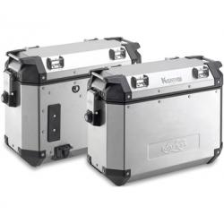 Sada bočních hliníkových kufrů Kappa 2x 37L