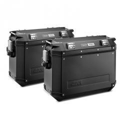 Sada černých hliníkových kufrů Givi 2x 37L