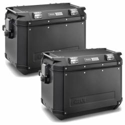 Sada černých hliníkových kufrů Givi 2x 48L