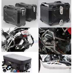 Adventure sada černá pro R1200GS LC 2013+ (3x kufr, nosiče, padací rám, kryt motoru, tašky)