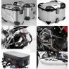 Adventure sada stříbrná pro R1200GS LC 2013+ (3x kufr, nosiče, padací rám, kryt motoru, tašky)