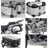 Adventure sada stříbrná pro R1200GS 2004-2012 (3x kufr, nosiče, padací rám, kryt motoru, tašky)
