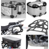 Adventure sada stříbrná pro R1200GS Adventure 2006-2013 (3x kufr, nosiče, kryt motoru, tašky)