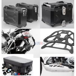 Adventure sada černá pro R1200GS LC Adventure 2014+ (3x kufr, nosiče, padací rám, kryt motoru, tašky)