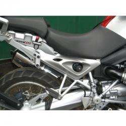 Sada stříbrných postranních panelů do podsedlového rámu R1200GS 2004-2012