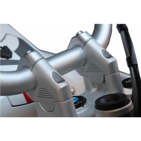 Zvýšení řidítek GSemotion, 38mm nahoru, 27mm dozadu pro R1250GS/A, R1200GS/A LC 2013-2018