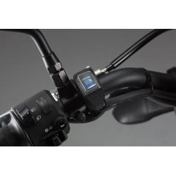 Podsvětlený voděodolný vypínač na řidítka pro dálková světla - modrý