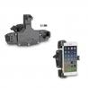 Velmi pevný, univerzální držák Givi/Kappa S920L pro telefony do velikosti 178x90mm. Široký rozsah nastavení, snadné vložení a uvolnění telefonu. Upevnění na řidítka motocyklu, kola atd. o průměru 8-35mm Pro telefony o rozměrech 144x67mm až 178x90mm
