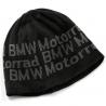 Jemná, dvouvrstvá pletená čepice BMW Motorrad do chladného počasí. černá barva 100% polyakryl