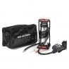 Nožní pumpička s digitálním ukazatelem tlaku v praktické taštičce pro snadné přenášení. Vhodná na cesty i do garáže.