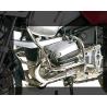 Chromovaný spodní padací rám Hepco Becker pro BMW R1150GS velmi dobře chrání důležité části motoru. Barva:pochromováno