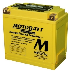 Baterie Motobatt MBTX12U 12V 14Ah pro BMW R1200GS/A LC 2013+, R1200GS/A 2004-2012, F800GS/A, F700GS, F650GS 2008+