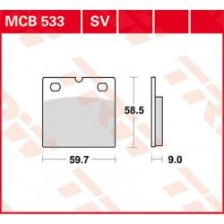 Sada předních brzdových destiček TRW Lucas MCB533SV pro BMW R100GS, R80GS, R65GS